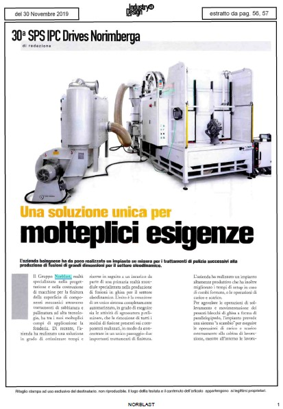 L'impianto su misura Norblast per il settore fonderia